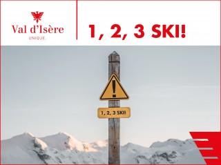 1, 2, 3, Let's go to ski !