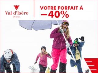40% de réduction sur votre forfait de ski !