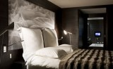 Bedroom of the hotel Avenue Lodge in Val d'Isere