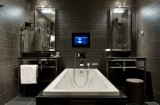 Bathroom of the hotel Avenue Lodge in Val d'Isere