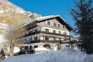 Front of the 2 stars hotel La Galise Savoie Alpes