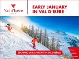 Early january in Val d'isere